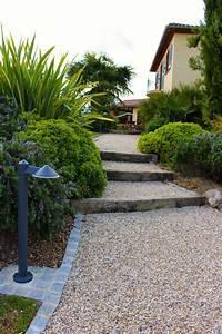 les 25 meilleures idees de la categorie jardin en gravier With faire une allee de jardin en gravier 1 avancer avec le pas japonais