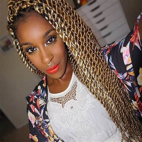 51 Kinky Twist Braids Hairstyles with Pictures