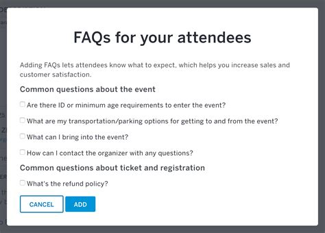 How To Add Event Faqs To An Event Listing