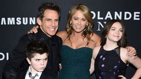 ben stiller family  wife dad mom height age