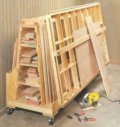 rolling lumber storage cart woodworking projects amp plans