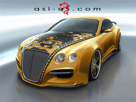 gold bentley asi bentley continental gtr gold concept photo 1 3436