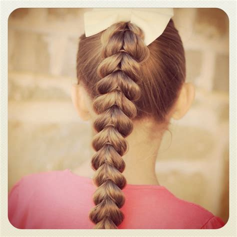 pull  braid easy hairstyles cute hair