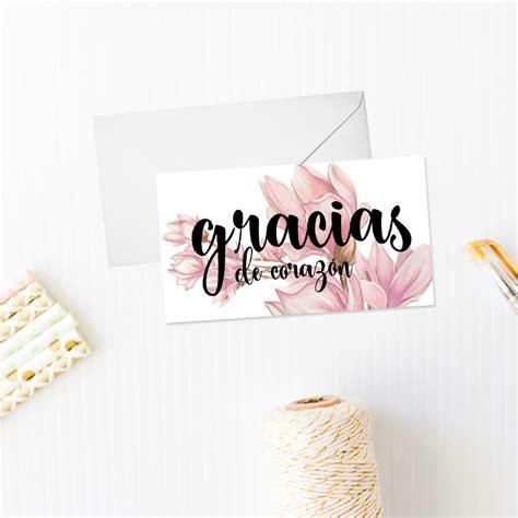 tarjeta de agradecimientos tarjeta de agradecimiento modelo magnolio con o sin sobre