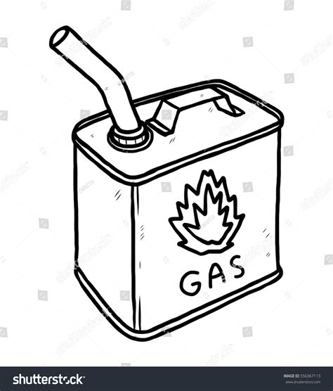 gas container bottle cartoon vector illustration stock