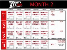 Insanity max 30 calendar for workout scheduling 2019