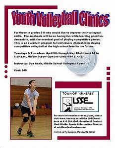 Fort River PGO: Youth Volleyball Clinics