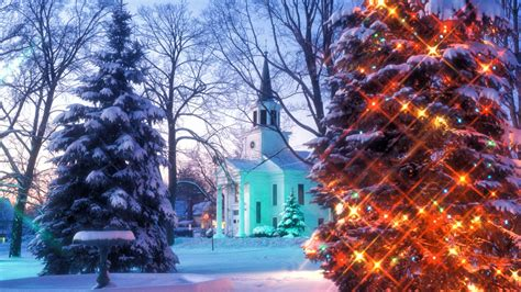 Christmas In Vermont Hd Wallpaper