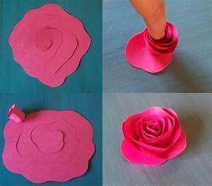 Blumen Basteln Vorlage : rose aus papier selber machen anleitung f r die kinder rosen aus papier papier und basteln ~ Frokenaadalensverden.com Haus und Dekorationen
