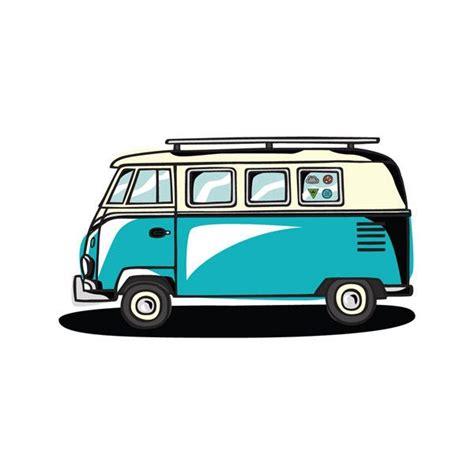 road trip logotipos vintage bus dibujo  retro
