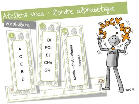 ranger les mots dans l ordre alphabetique atelier vocabulaire l ordre alphab 233 tique bout de gomme bloglovin