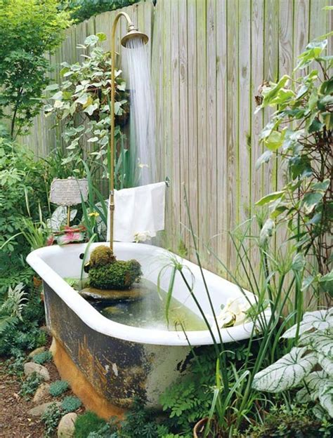 tubs in gardens make an old claw foot tub into a backyard fountain pond hybrid and 19 other ideas outdoor