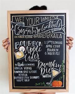 CHALKBOARD Personalized Wedding Bar Sign // , Hand