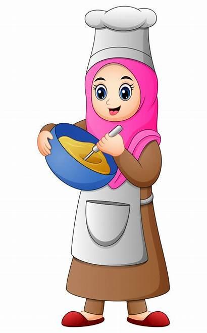Muslim Cooking Vector Happy Premium Freepik