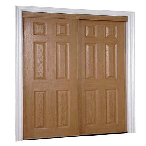 shop kingstar oak 6 panel mirror sliding closet interior