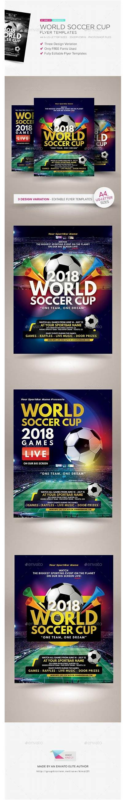 Flyer Graphicriver Templates Cup Soccer Event