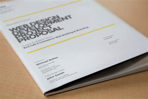web design proposal stationery templates  creative market