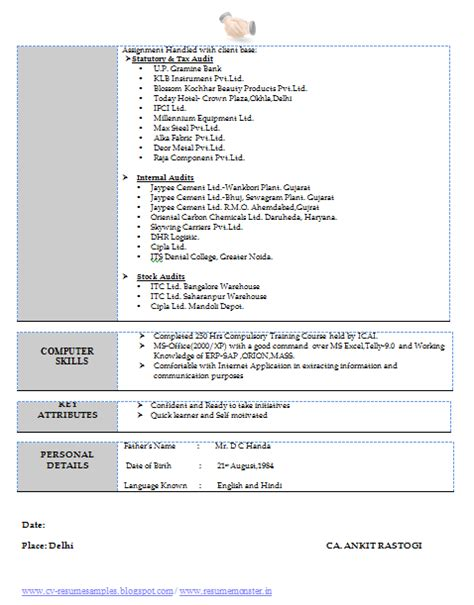 1 to 2 year work experience resume page 2 career