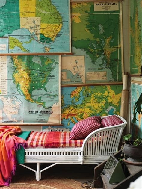 Worldly Decorating With Globes And Maps