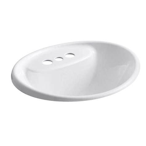 Kohler Enameled Cast Iron Sink Color Sles by Kohler Tides Drop In Cast Iron Bathroom Sink In White With