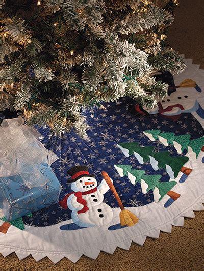 stitch   beautiful appliqued skirt   tree
