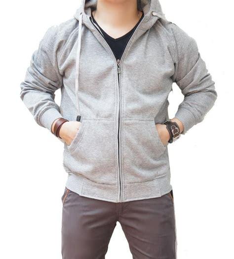 jual beli jaket sweater cowok pria polos hoodie zipper