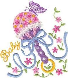 free embroidery designs baby s rattle by singer