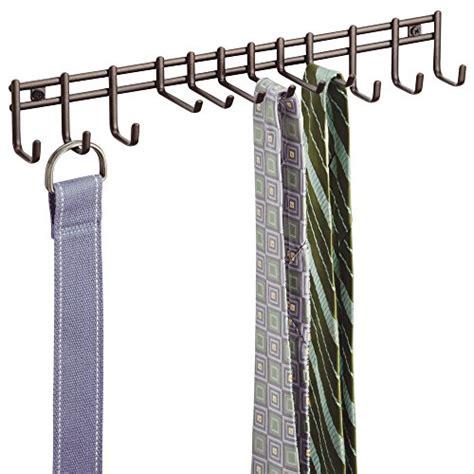 Belt Holder For Closet by Tie Belt Rack Wall Mount Holder Hanger Necklace Organizer