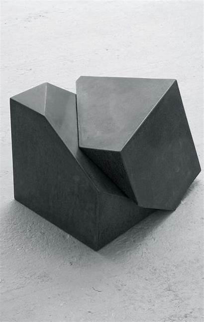 Concrete Furniture Stools Cube Stool Polished Sculpture