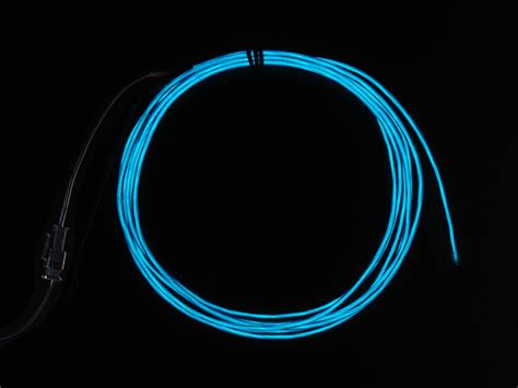 high brightness blue electroluminescent el wire 2 5