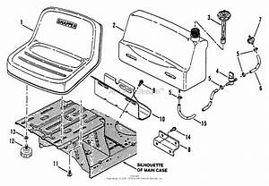 Snapper 421615bve Rear Engine Rider Series 15 Parts Diagram For Fuel Tank  U0026 Operator S Seat