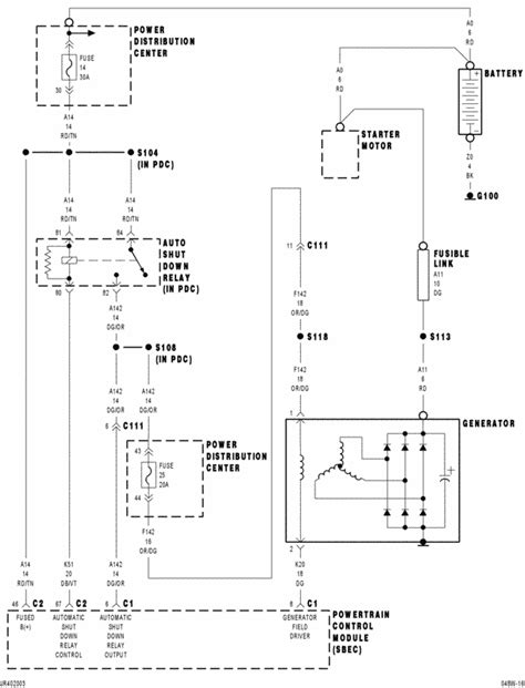 Chrysler Alarm Wiring Diagram by 2004 Chrysler Pacifica Starter Wiring Diagram Wiring