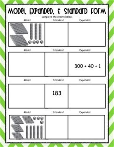 word form math worksheets writing standard numbers in