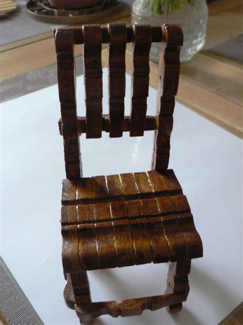 chaise en epingle a linge en bois my name is or vos créas du défi créatifs n 5