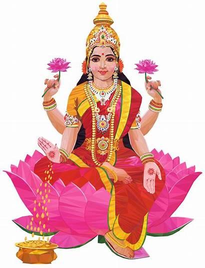 Hindu Lakshmi Gods Flowers Favourite Goddess Ganesha