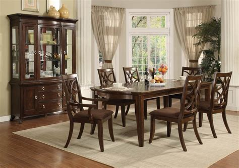 espresso finish transitional pc dining set woptional items