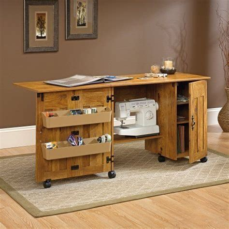 sauder sewing craft table cabinet storage sauder sewing and craft cart table with drop leaf