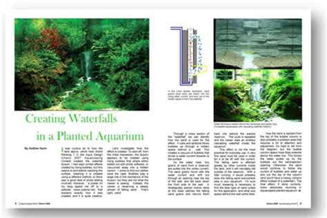 Aquascaping Magazine by Aquascaping World Magazine Creating A Waterfall In A