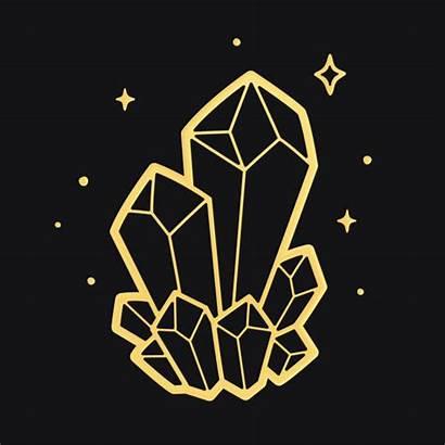 Vector Crystal Quartz Drawings Clip Crystals Background