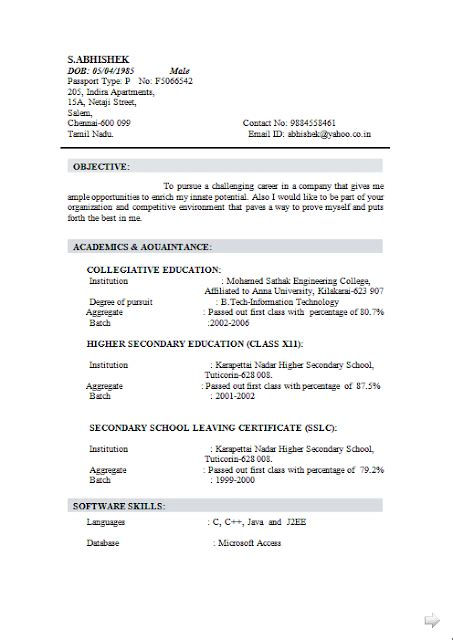 Dob On Resume by Curriculum Vitae Ms Word Free Sle Template