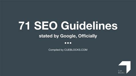 Seo Guidelines by Ppt 71 Ordained Seo Guidelines You May
