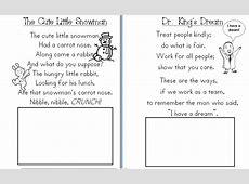 Aloha Kindergarten! January Poetry Journals