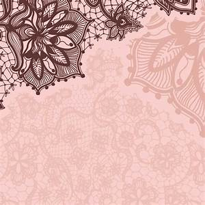 Pink Lace Wallpaper - ModaFinilsale