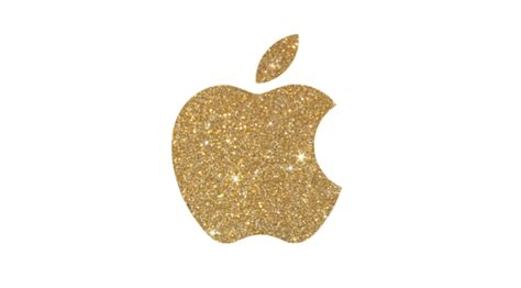 gold glitter apple logo iphone  wallpaper