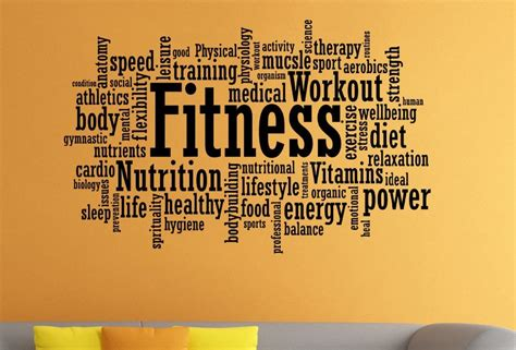 fitness motivation wall sticker gym fitness quote