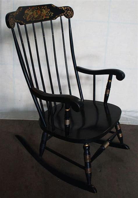 vintage black hitchcock rocker rocking chair by scrantonattic 199 99 scranton attic