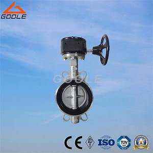China Manual Soft Seal Wafer Type Butterfly Valve  Gad371x