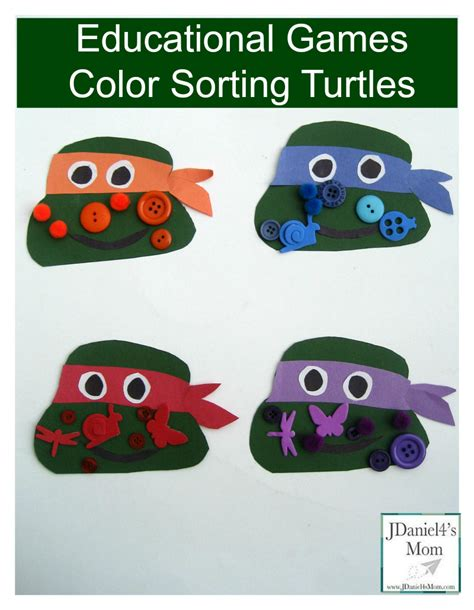 educational color sorting turtles 594 | educational games color sorting turtles