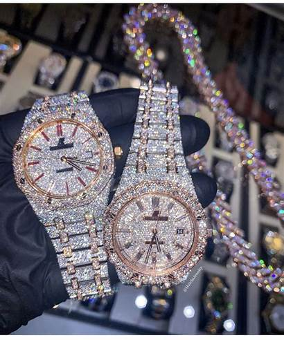 Rolex Buss Down Watches Diamond Iced