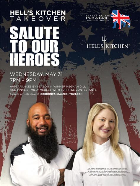 hell s kitchen tickets may quot salute to our heroes quot hell s kitchen takeover